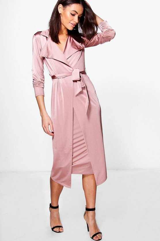Louise Tie Waist Duster & Skirt Co-Ord Set