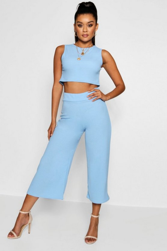 Boxy Crop Top & Culotte Co-ord