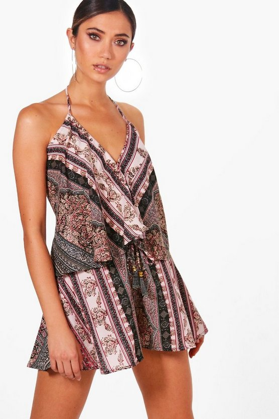 Sarah Crop Cami & Short Scarf Print Co-Ord