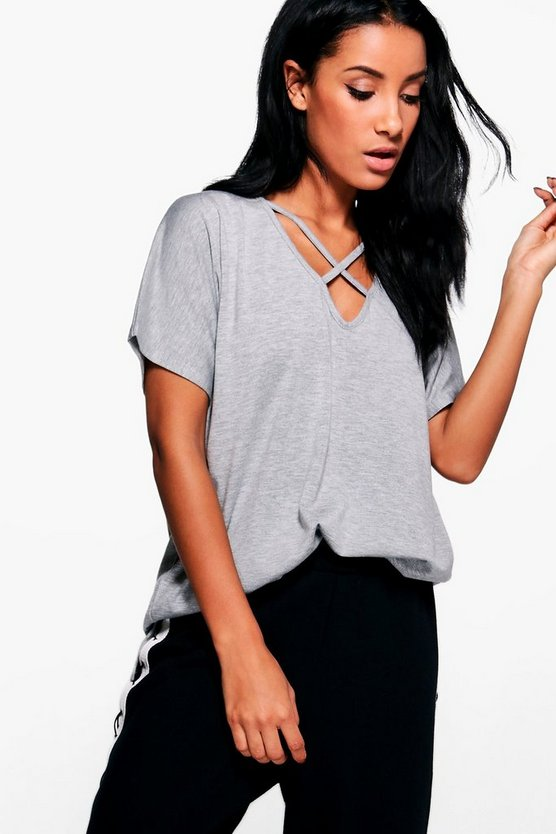 Imogen Oversized Cross Strap T-Shirt