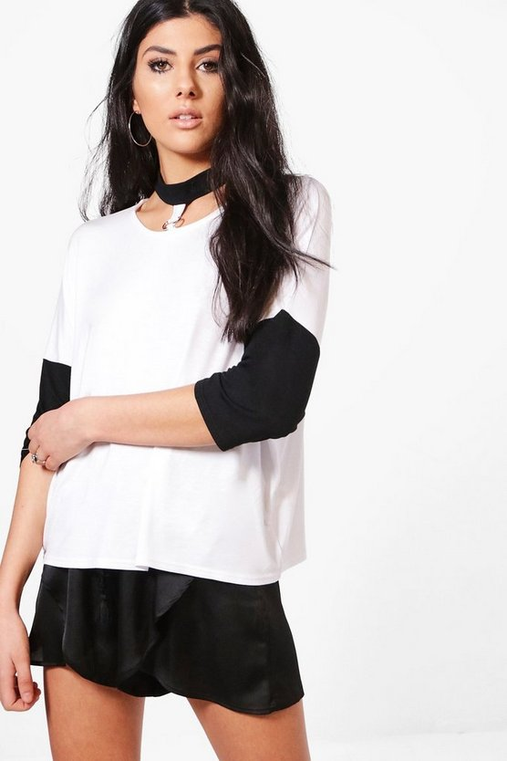 Aria Choker Ring Detail Tee