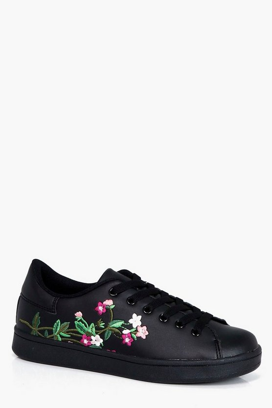 Freya Floral Embroidered Trainer