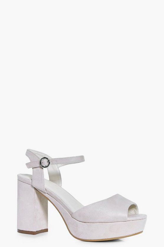 Julia Platform Peeptoe Two Part