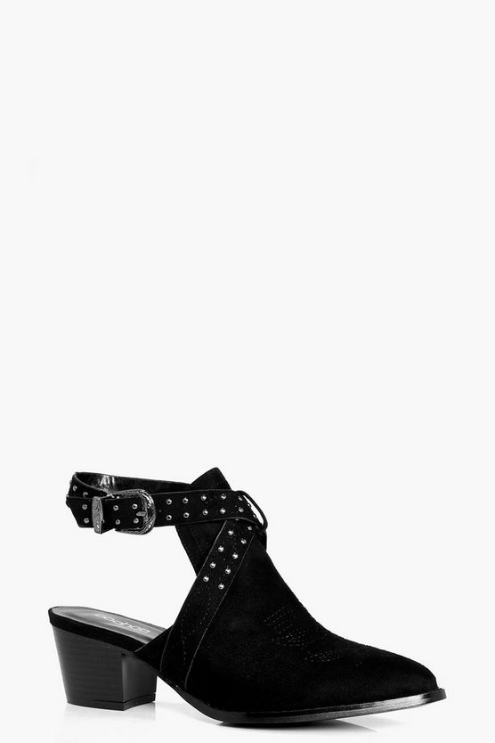 Orla Closed Toe Studded Western Shoe Boot