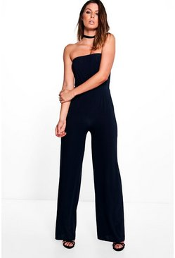 Beth Strapless Wide Leg Jumpsuit