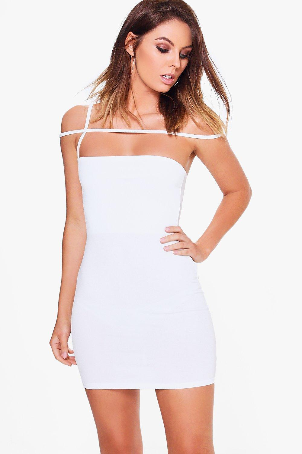 Freyja Strappy Off Shoulder Bodycon Dress
