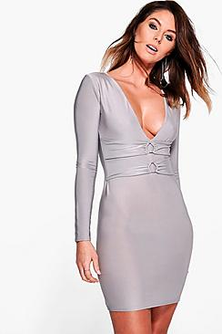 India Waist Detail Bodycon Dress