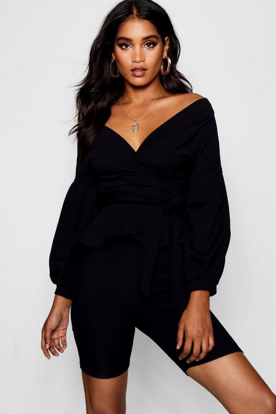 Nora Bell Sleeve Wrapover Top