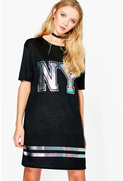 Jade Oversized NY Knitted Tshirt Dress