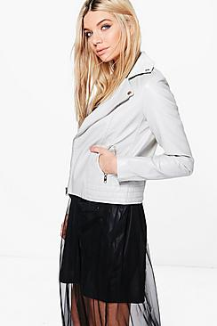 Lucy Faux Leather Biker Jacket