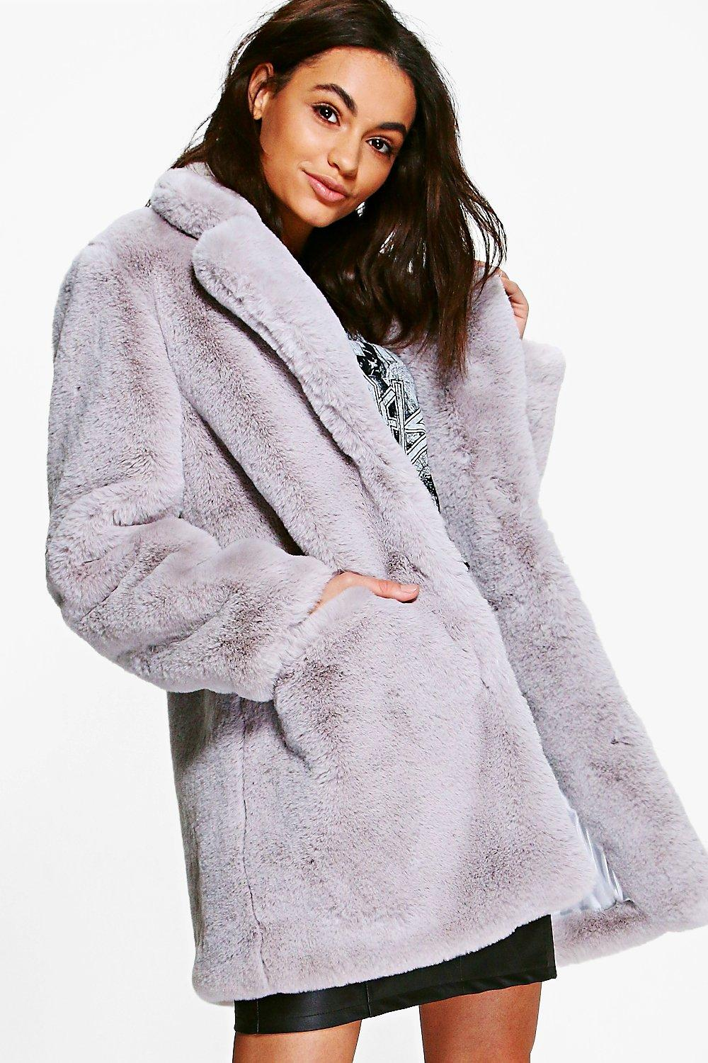 Faux Fur Coats | Furry & Fluffy Coats for Women | Boohoo