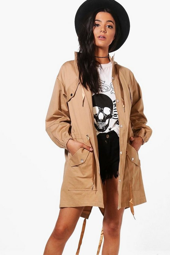 Suzie Hooded Longline Utility Jacket