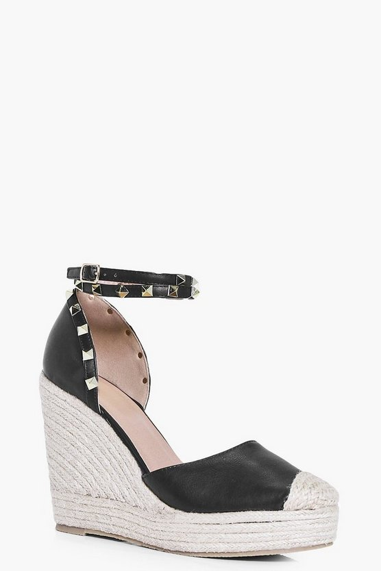 Lilly Studded Ankle Strap Wedge