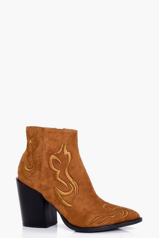 Lola Stitch Detail Western Boot