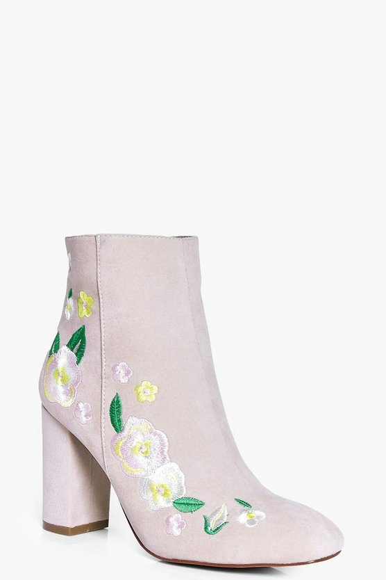 Matilda Embroidered Ankle Boot