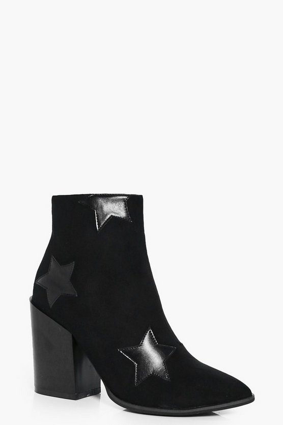 Erin Star Detail Ankle Boot