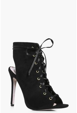 Eleanor Ribbon Lace Up Shoe Boot
