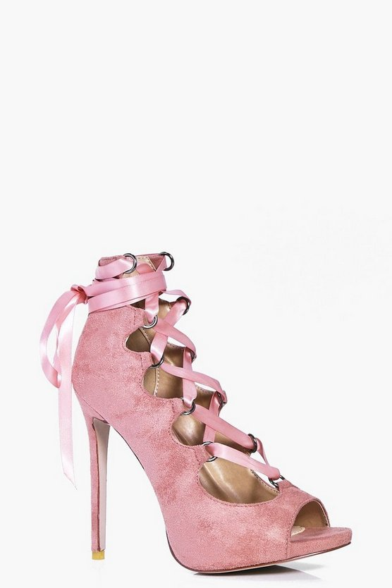 Bethany Ribbon Lace Up Peeptoe