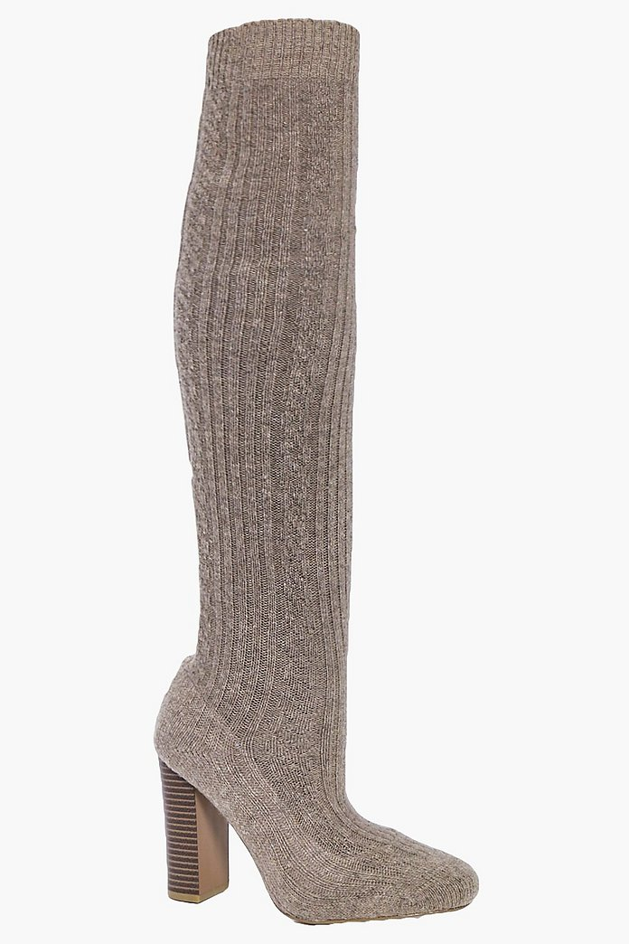 Annie Knitted Over The Knee Boot