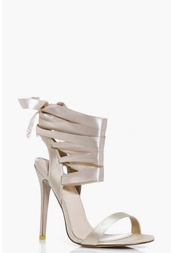 Nancy Ribbon Lace Tie Sandal