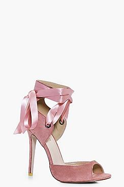 Violet Lace Up Peeptoe Sandal