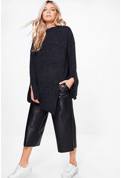 Abigail Premium Ring Detail High Neck Jumper