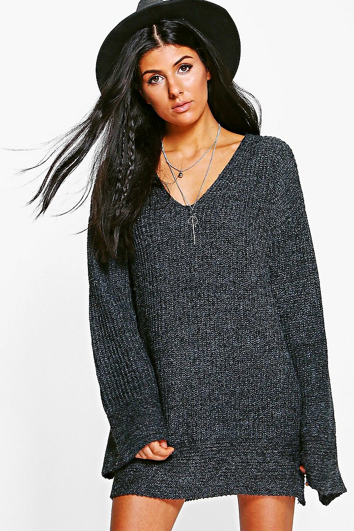 Jasmine Premium Oversized Wide Sleeve Knitted Dress