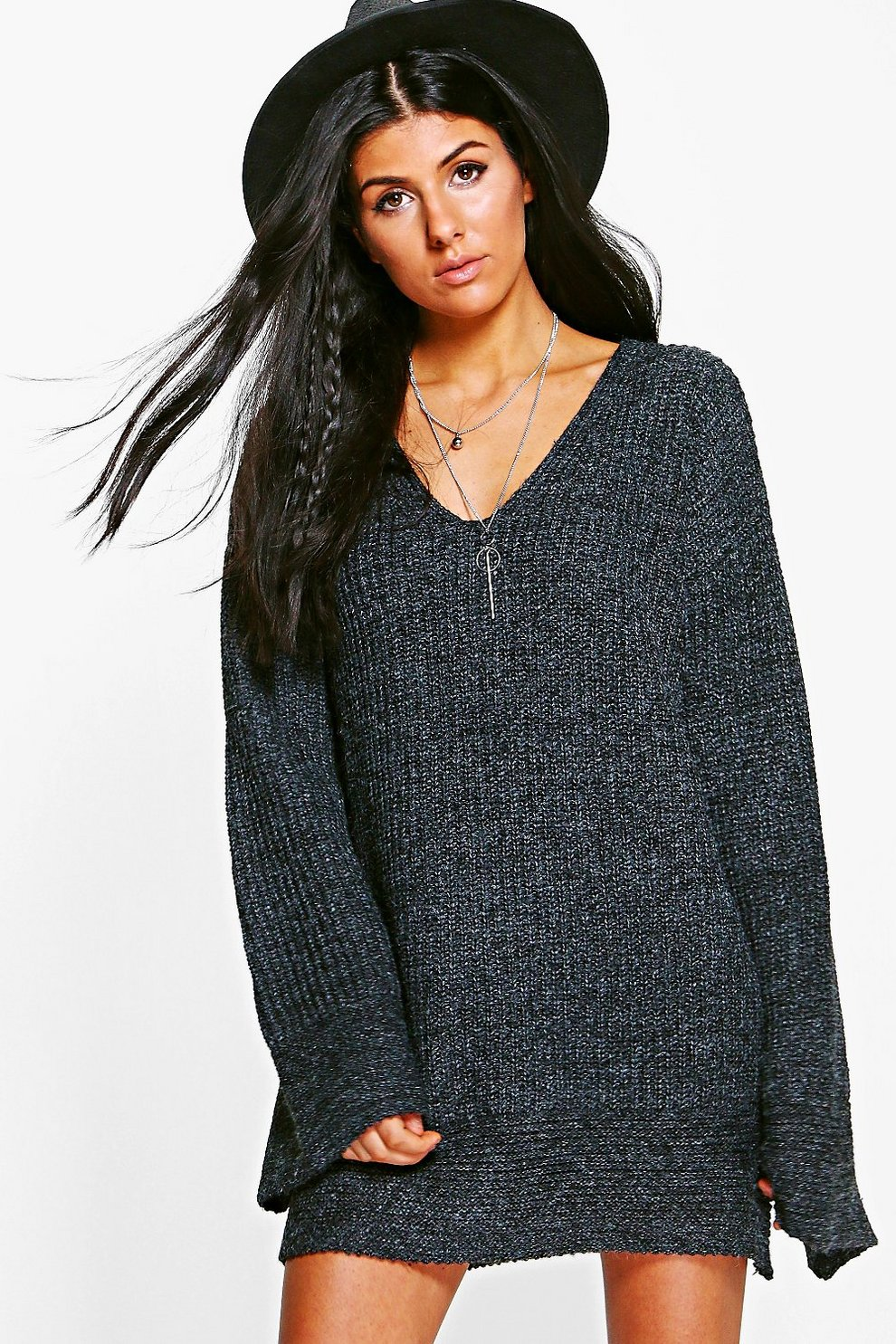 Boohoo Wide Sleeve Knitted Dress Sale Low Price Fee Shipping In China Clearance Outlet 7LNlC