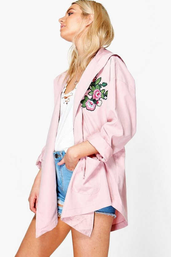 Alisha Embroidered Lightweight Parka