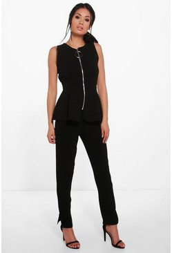Julia Step Hem Slim Trouser