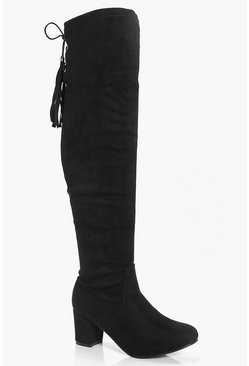 Tilly Low Block Heel Over The Knee Boot