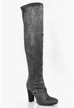 Anya Buckle Trim Over The Knee Boot