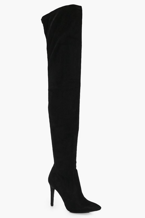 Darcey Thigh High Pointed Boot