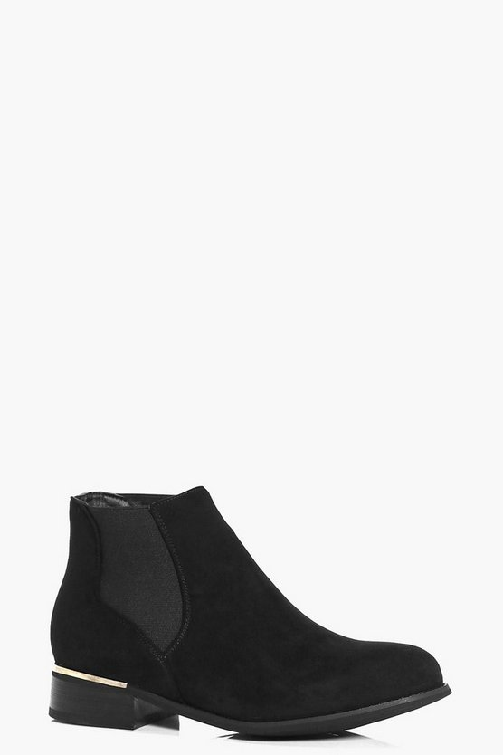 Grace Metallic Detail Chelsea Boots