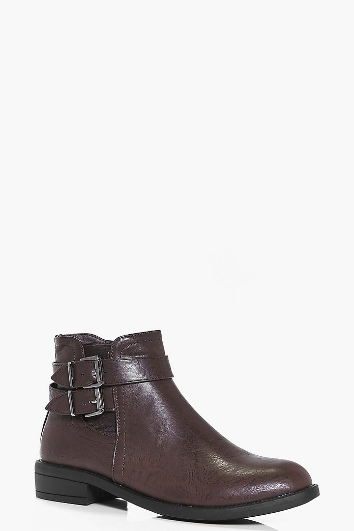 Taylor Double Buckle Chelsea Boot