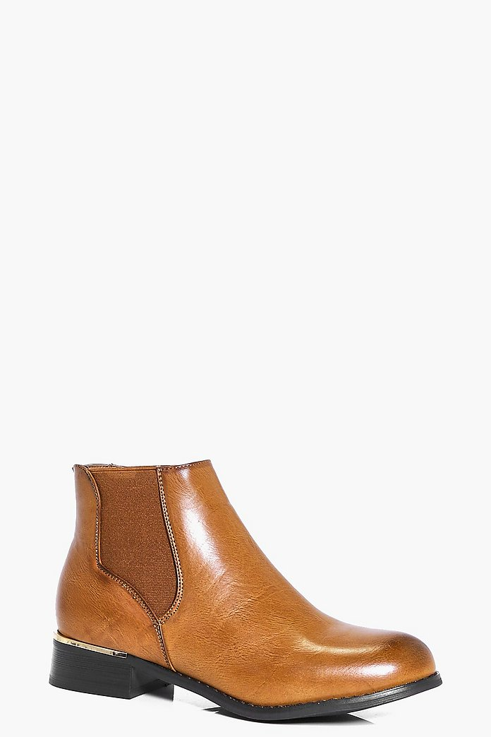 Kara Metallic Detail Chelsea Boot
