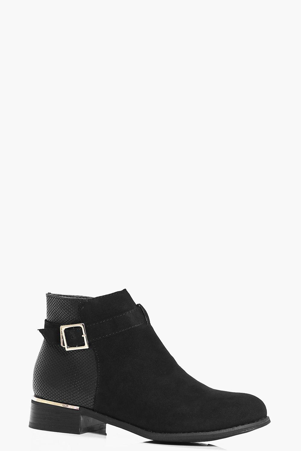 Edie Metallic Buckle Trim Chelsea Boot