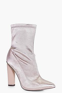 Georgina Satin Sock Boot