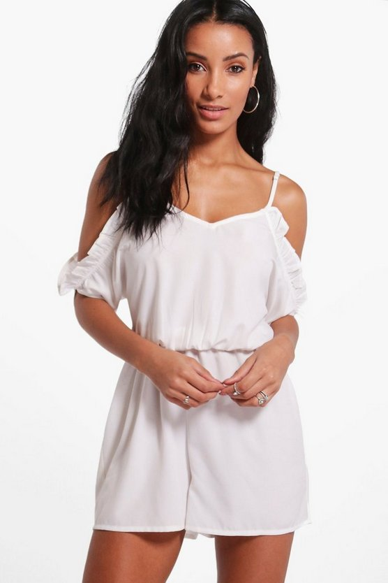Faye Open Shoulder Playsuit