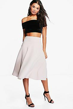 Royah Deep Waistband Full Midi Skirt