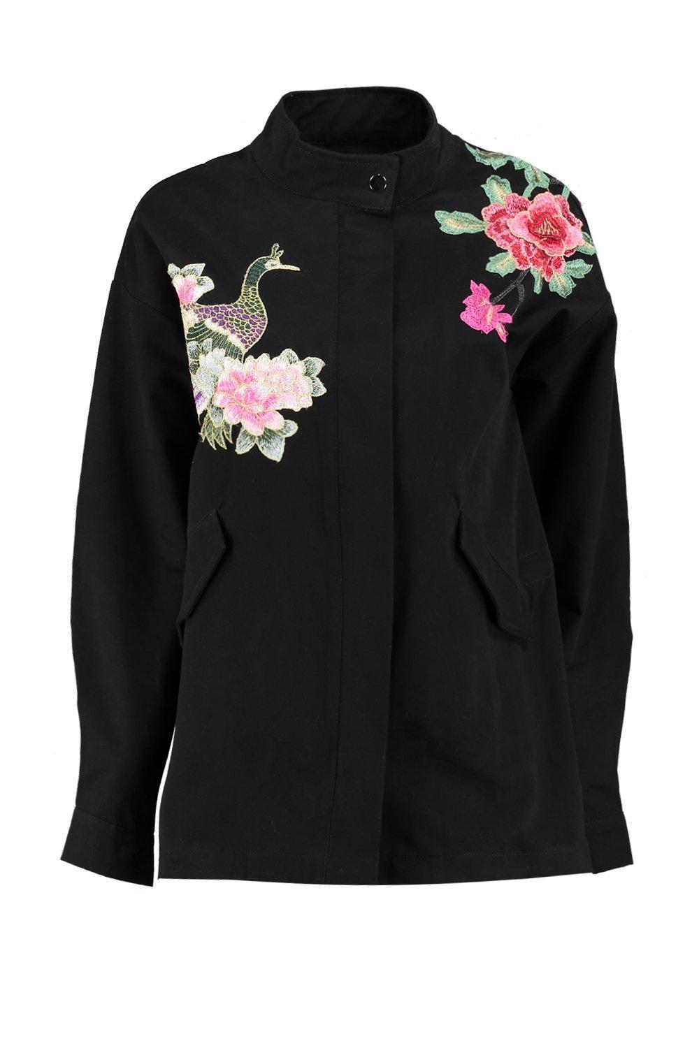 Boohoo womens lucy boutique floral embroidered utility