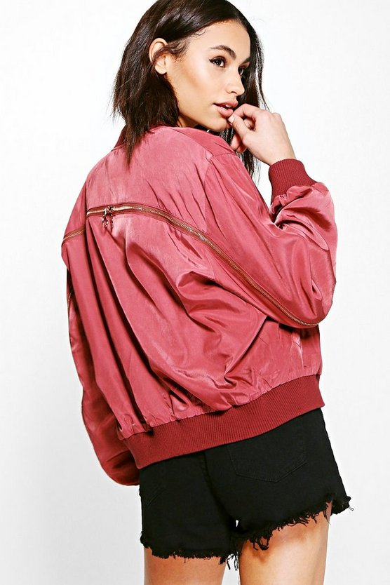 Lily Boutique Zip Back Bomber