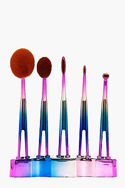 5 Piece Ombre Oval Brush Set
