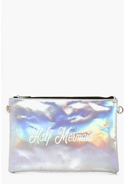 Florence Holographic Half Mermaid Clutch Bag