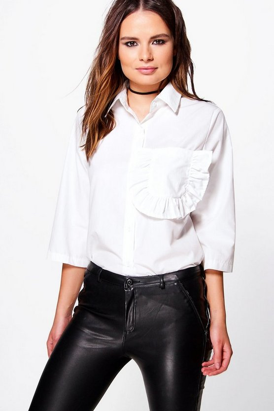 Eleanor Ruffle Pocket Shirt