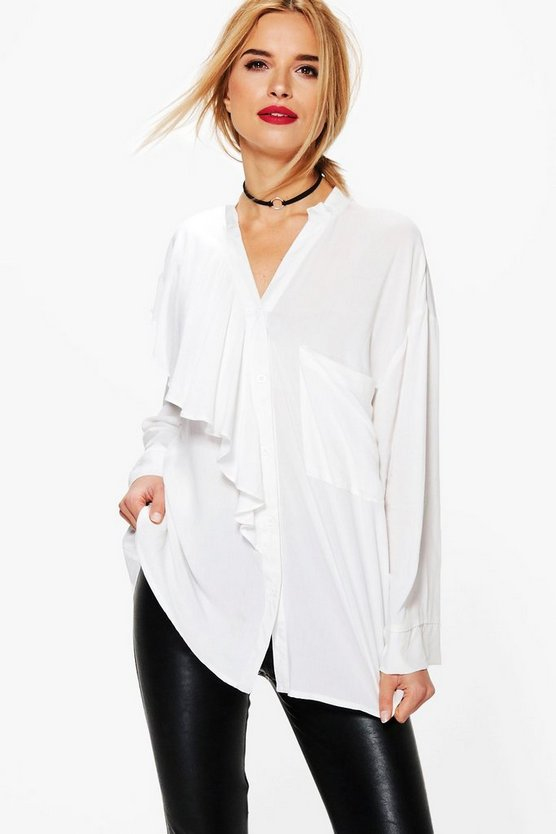 Sandy Oversized Ruffle Shirt