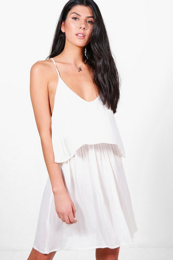 Ashlee Open Shoulder Skater Dress