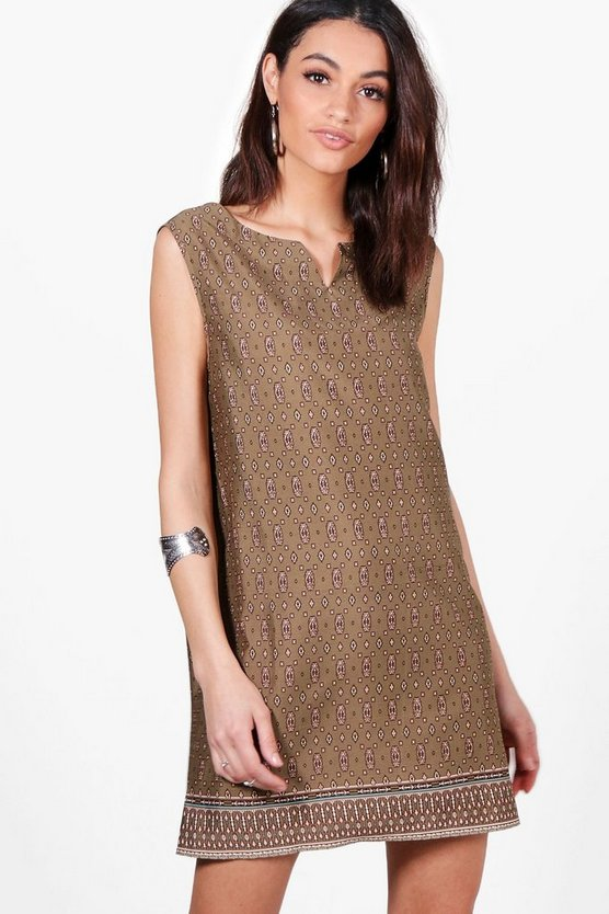 Maddy Printed Sleeveless Shift Dress