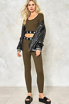 Cora Star Band Ribbed Legging & Crop Co-ord
