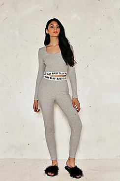 Sophie Slay Baby Ribbed Legging & Crop Co-ord
